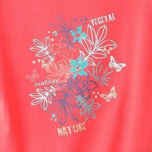 Tričko s potiskem potisk korálová 34/36 obraz