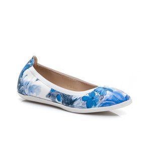 Originální modré dámské baleríny s květy obraz