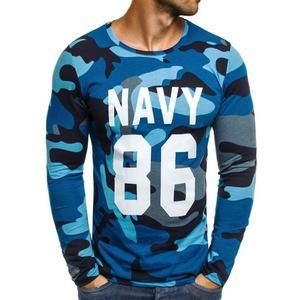 3da277a7c47 Netradiční tmavě modré maskáčové tričko s potiskem ATHLETIC 1087