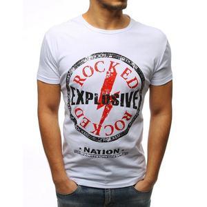 Dstreet Bílé tričko s efektivním potiskem (39 kousků) - Moda2.cz a73c7cff03
