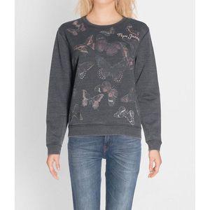 Pepe Jeans dámská černá mikina Flor obraz