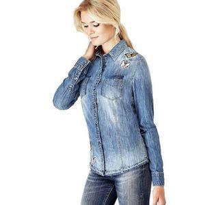 Guess dámská džínová košile obraz