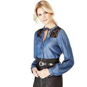 Guess dámská džínová košile s krajkou obraz