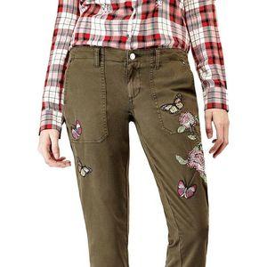 Guess Kalhoty Zelená obraz
