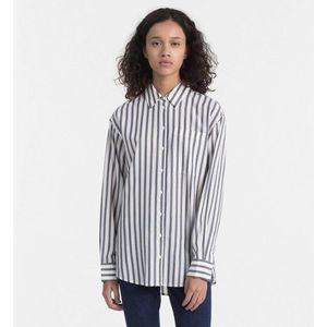 Calvin Klein dámská pruhovaná košile Oversized obraz