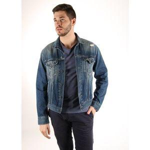 Pepe Jeans pánská tmavě modrá džínová bunda obraz
