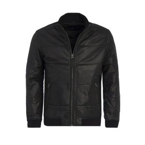 Pepe Jeans pánská černá kožená bunda Malta obraz