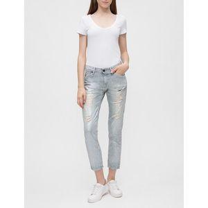 Pepe Jeans dámské holografické 7/8 džíny Joey obraz