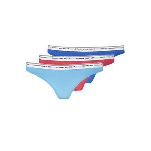 Tommy Hilfiger Iconic Cotton Tanga 3-balení - modrá, tyrkysová, červená Velikost: XS obraz