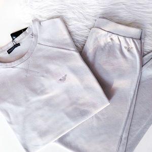Emporio Armani Underwear Luxusní souprava Emporio Armani Cozy Nights - silver Velikost: S obraz