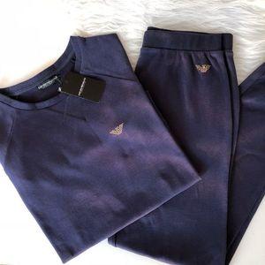 Emporio Armani Underwear Luxusní souprava Emporio Armani Cozy Nights - deep blue Velikost: S obraz