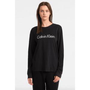 Calvin Klein Logo tričko s dlouhým rukávem - černé Velikost: M obraz