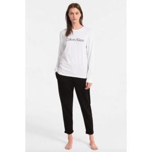 Calvin Klein Logo tričko s dlouhým rukávem - bílé Velikost: XS obraz