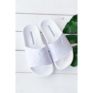 Emporio Armani Underwear Emporio Armani pantofle - bílé Velikost: 38 obraz
