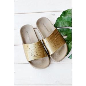 Emporio Armani Underwear Emporio Armani pantofle - zlaté Velikost: 38 obraz