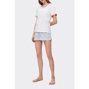 Calvin Klein tričko - pomelo/bílá Velikost: XS obraz