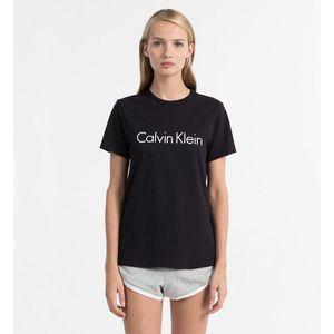 Calvin Klein Logo tričko dámské - černé Velikost: XS obraz