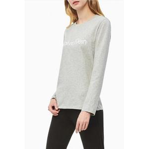 Calvin Klein dámské Logo tričko s dlouhým rukávem - šedé Velikost: XS obraz