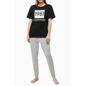 Calvin Klein dámské tričko 1981 Bold - černé Velikost: XS obraz