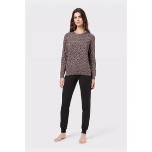 Emporio Armani Underwear Emporio Armani Fancy Cotton souprava mikina+tepláky - černá/leopard Velikost: L obraz