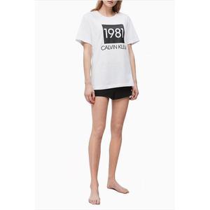 Calvin Klein dámské tričko 1981 Bold - bílé Velikost: XS obraz