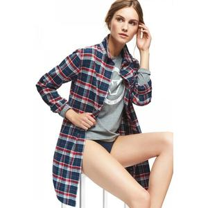 Emporio Armani Underwear Emporio Armani dámská košile - červená, modrá Velikost: M obraz