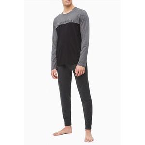 Calvin Klein pánské tričko - šedá/černá Velikost: XL obraz