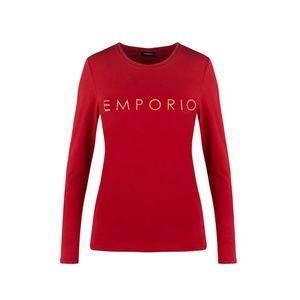 Emporio Armani Underwear Emporio Armani Holy Cotton dámské tričko s dlouhým rukávem - červené Velikost: L obraz