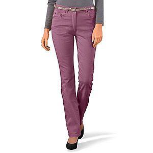 Rovné kalhoty purpurová 36 obraz
