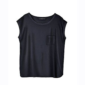 Jednobarevné tričko s krátkými rukávy černá S obraz