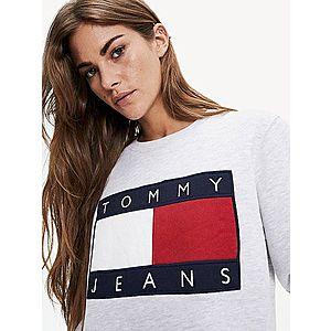 Tommy Hilfiger dámská šedá mikina Flag obraz