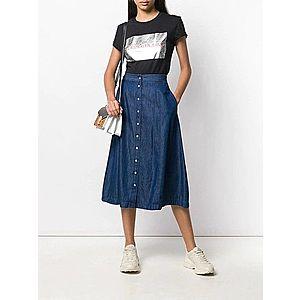 Calvin Klein dámská propínací džínová sukně Indigo obraz