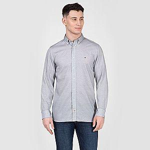 Tommy Hilfiger pánská košile s tmavě modrým proužkem obraz
