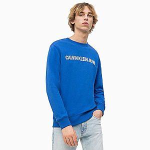 Calvin Klein pánská modrá mikina Logo obraz