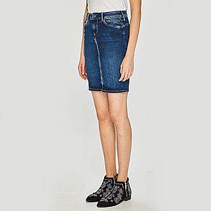 Pepe Jeans dámská modrá džínová sukně obraz