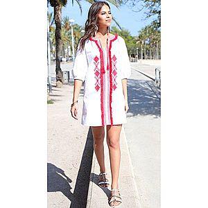 Tunikové šaty bílá S obraz