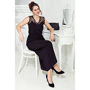 Dlouhé šaty bez rukávů černá S obraz