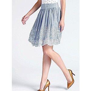 Guess dámská pruhovaná sukně s vyšíváním obraz