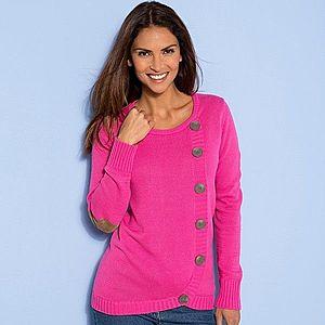 Asymetrický pulovr růžová 50 obraz