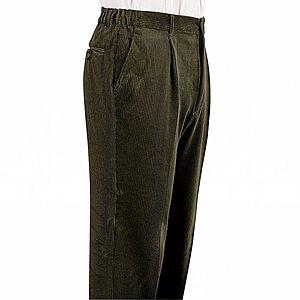 Kalhoty s elastickými vsadkami zelená 60 obraz