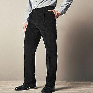 Kalhoty s elastickými vsadkami černá 44 obraz