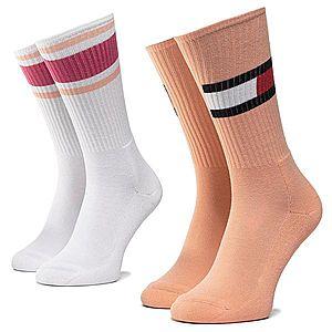 Sada 2 párů dámských vysokých ponožek TOMMY HILFIGER obraz