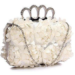 Bílá kabelka s řetízkem obraz