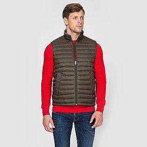 Tommy Hilfiger pánská khaki prošívaná vesta obraz