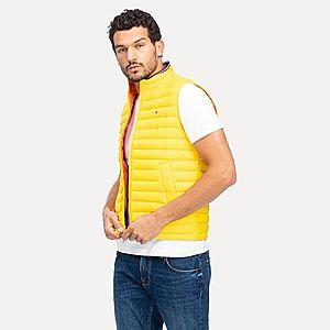 Tommy Hilfiger pánská žlutá prošívaná vesta obraz
