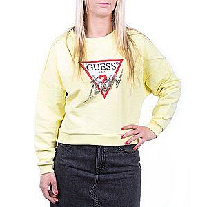 Guess dámská žlutá mikina obraz