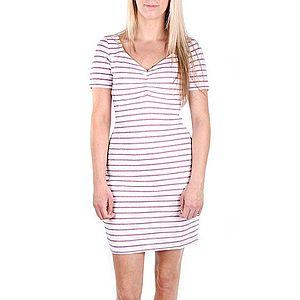 Guess dámské bílé šaty s růžovým proužkem obraz