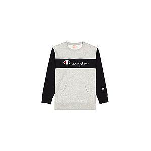 Champion Colour Block Kangaroo Pocket Reverse Weave Sweatshirt-XXL šedé 214049-EM004-XXL obraz
