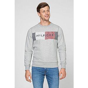 Tommy Hilfiger pánská šedá mikina Hilfiger Logo obraz