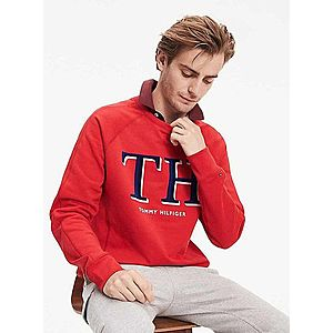 Tommy Hilfiger pánská červená mikina Tommy obraz